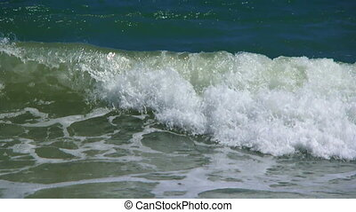 Shallow - Small waves of the sea rising around in the...