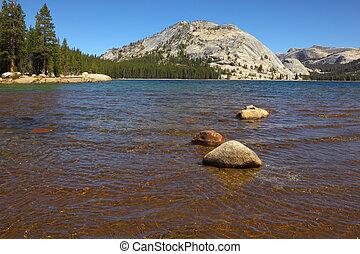 Shallow on mountain lake