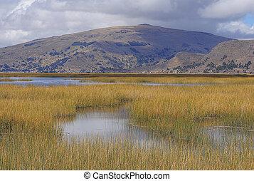 Titicaca lake.