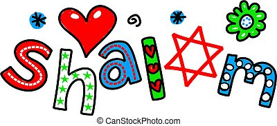 Shalom Cartoon Text Expression