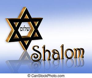 shalom, hanukkah, 背景, ユダヤ人