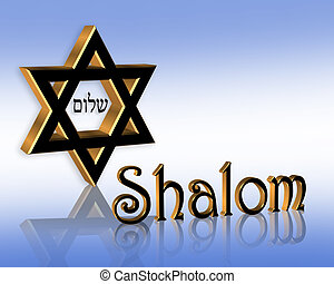 shalom, jüdisch, hintergrund, hanukkah