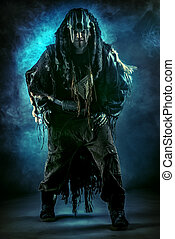 shaman ritual - Ancient shaman warrior. Ethnic costume....