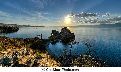 Shaman Rock, Island of Olkhon, Lake Baikal, Russia