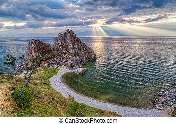 Shaman Rock, Lake Baikal