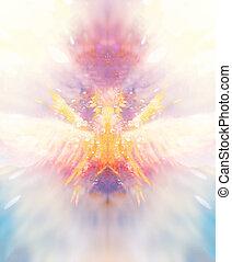 shamanic extatic vision theme with phoenic wings. - shamanic...