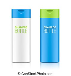 shampoing, bouteille, gabarit