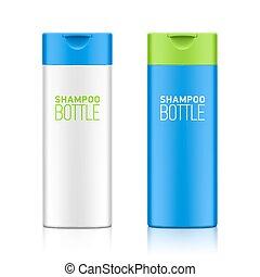 shampoo, bottiglia, sagoma