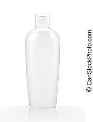 Shampoo bottle on white background. Vector illustration