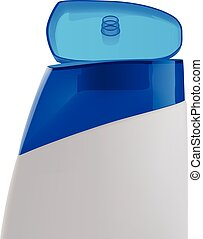 shampoo bottle side view