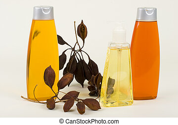 Shampoo, Conditioner And Hand Soap With Seeds In Pods -...