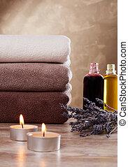 shampoo, e, toalhas