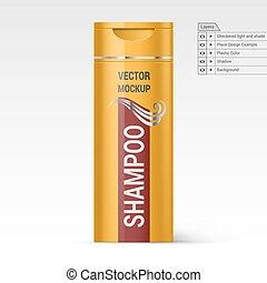shampoo, garrafa, plástico