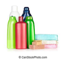shampoo, garrafas