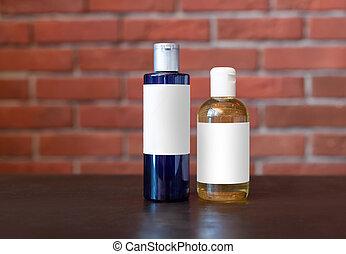 Shampoo on the table