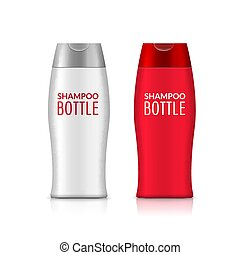 Shampoo plastic bottle or shower gel bottle template design....