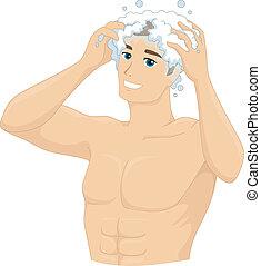 shampoo, uomo