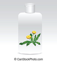 Shampoo with dandelions