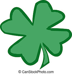Shamrock 2 - An illustration of a green shamrock.