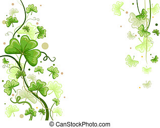 Background Design Featuring Shamrock Vines