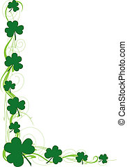 Shamrock Border - A border or frame featuring green...