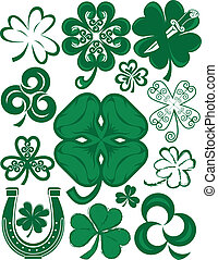 Shamrock Collection - Clip art collection of various types...