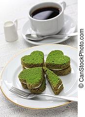 shamrock green cake