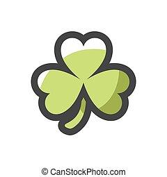 Shamrock Green Clover Vector icon Cartoon illustration