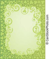 Shamrock Green Swirl Border