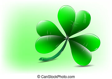 Shamrock icon - Three leaf clover - vector illustration.