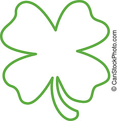 Shamrock line art drawing in a simple, one color stylized style perfect for scrapbooking