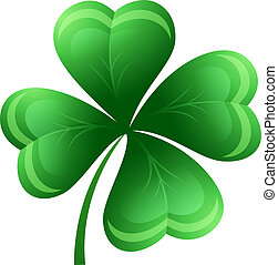 Shamrock or clover leaf. Vector illustration