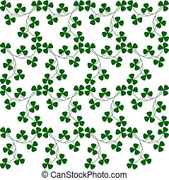 Shamrock pattern - Seamless repeating pattern of small green...