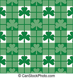 Shamrock Plaid Pattern - Seamless plaid pattern with...