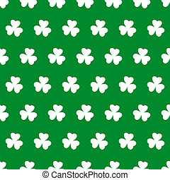Shamrock seamless background - Seamless background with...