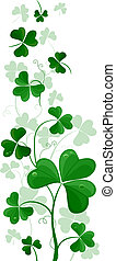 Shamrock Side Ornament - Illustration of a Side Ornament...