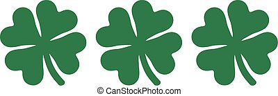 Shamrock triple with four-leaves