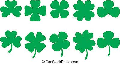 SHAMROCKS - Shamrock shapes for St. Patrick's Day designs. ...