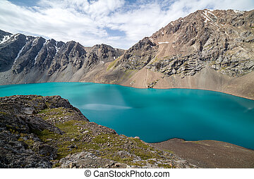 shan, kyrgyzstan, tien, jezioro, ala-kul, krajobraz