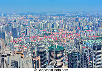Shanghai aerial in the day