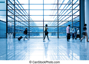 shanghai, aeropuerto, pasajeros, pudong