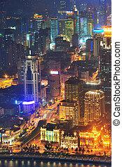 shanghai, antenna, szürkület