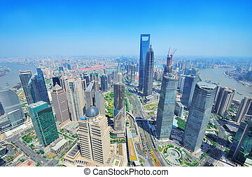 Shanghai, antenne, dag