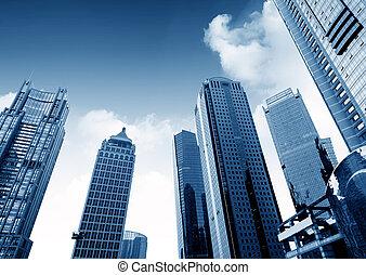 shanghai, china, arranha-céus