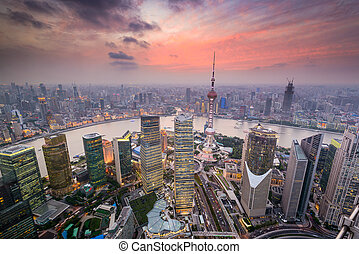 Shanghai China Cityscape - Shanghai, China cityscape...