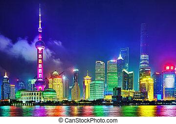 SHANGHAI, CHINA - MAY 24, 2015: Beautiful and office ...