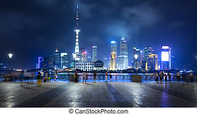 Shanghai, China - The beautiful view of the Bund in...