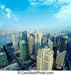shanghai - •China Shanghai the huangpu river and Pudong...