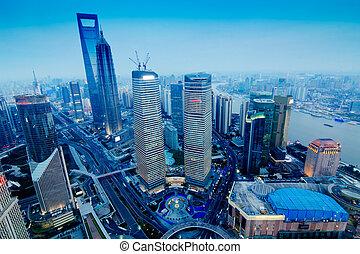 shanghai - China Shanghai the huangpu river and Pudong...