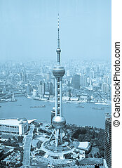 shanghai - China Shanghai the pearl tower, the Bund and Puxi...